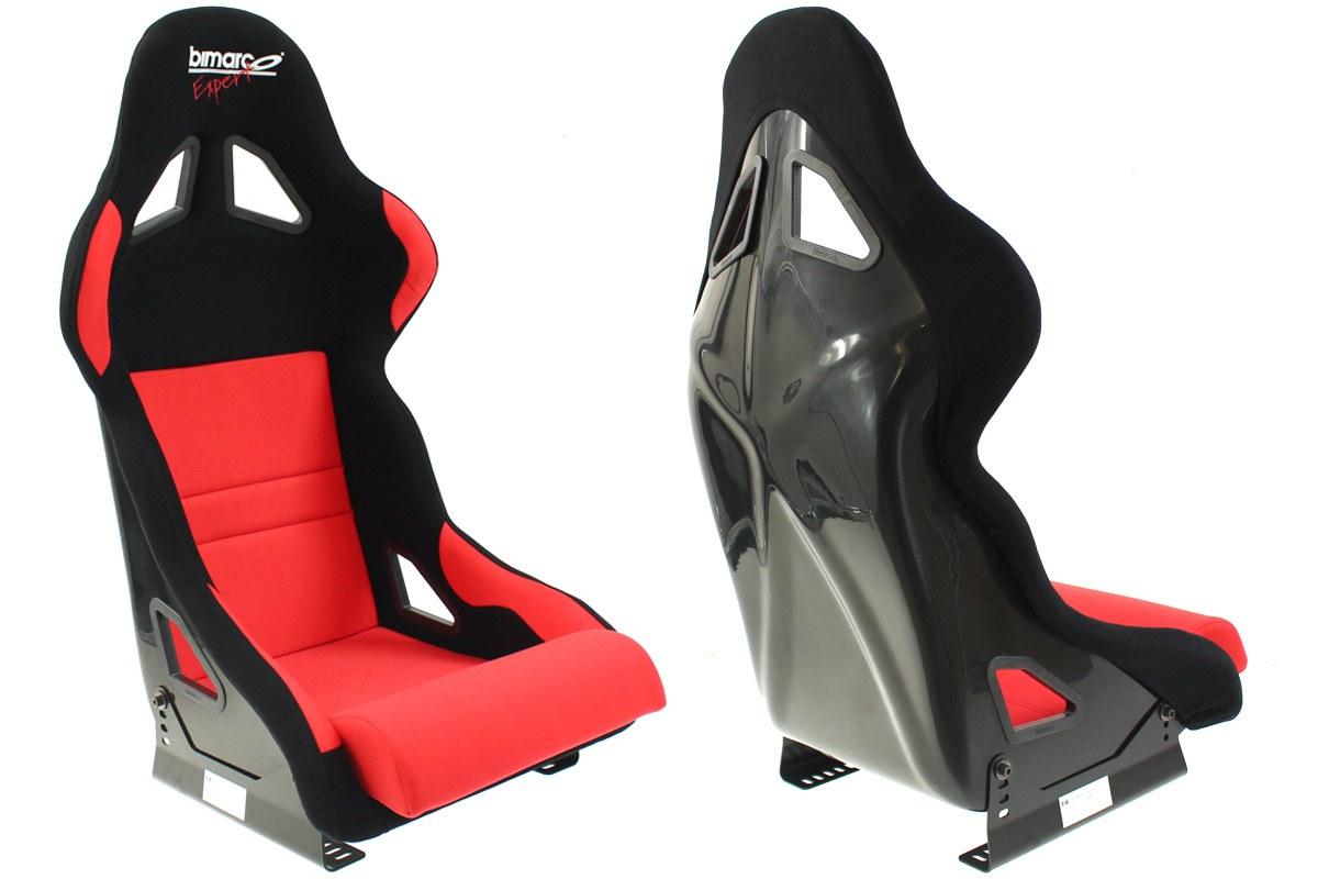 Fotel Sportowy Bimarco Expert II Welur Black/Red FIA - GRUBYGARAGE - Sklep Tuningowy